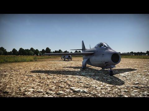 Как полетать на реактиве в War Thunder SAAB J-29A Tunnan (Без самолета 5 ранга)