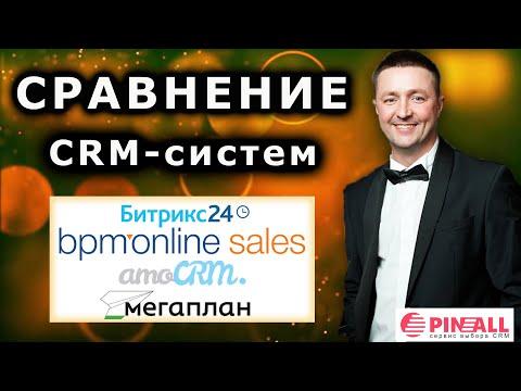 Сравнение CRM-систем: Битрикс24, bpm'online sales, Мегаплан, amoCRM от Пинол