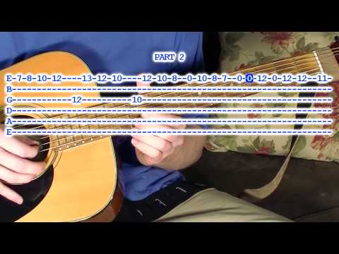 Guitar tablature lesson