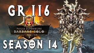 GR116 Rank 3 Barbarian Raekor ~ Diablo 3 [Season 14]