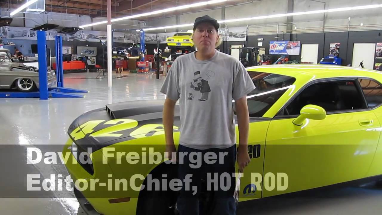 HOT ROD's David Freiburger with the 1320 426 Dodge Challenge - YouTube