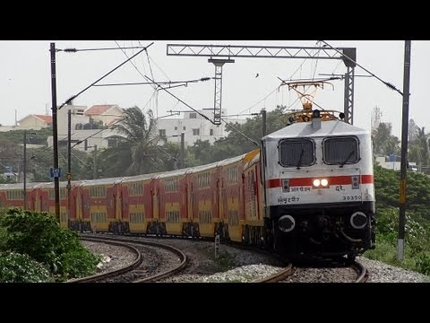 WAP-7 30350 RPM BANGALORE CHENNAI  DOUBLE DECKER EXPRESS 22626