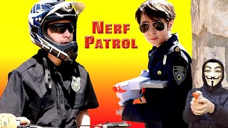 Nerf Patrol: The BEST Motorcycle Nerf War EVER!... WATCH to see who wins!