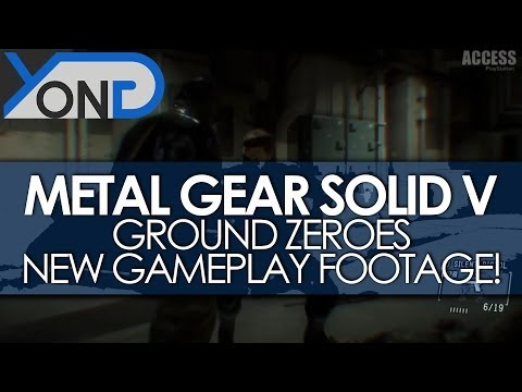 Metal Gear Solid V - Awesome New Ground Zeroes Gameplay Footage! (PS4 Version)