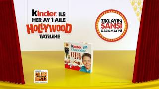 Kinder Chocolate İle Her Ay Bir Aile Hollywood Tatiline