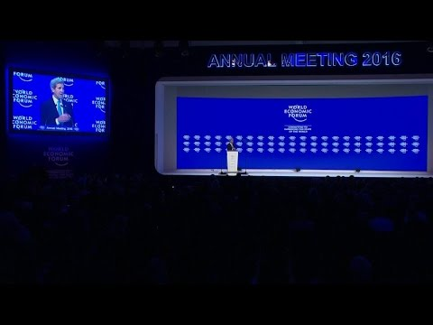 Secretary Kerry at the World Economic Forum in Davos, Switzerland