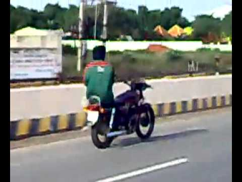 Another crazy Indian guy on bike [Amazing]