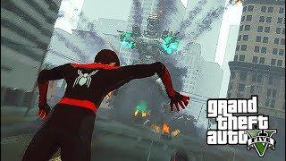NEW Spider-Man: Far From Home MOD! - Spider-Man VS MechaGodzilla (GTA 5 Mods Gameplay)