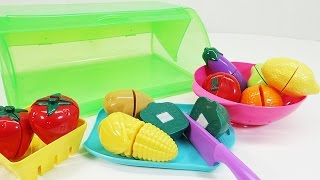 Kitchen Toys for Children | Cutting Toy Fruits and Vegetables