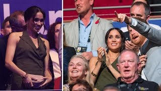Pregnant Meghan Markle and Harry attend Invictus Games closing ceremony in Australia