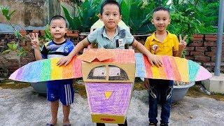 Trò Chơi Tô Màu Máy Bay Thần Kì - Bé Nhím TV - Đồ Chơi Trẻ Em Thiếu Nhi