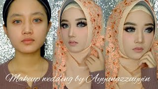 Flawless wedding makeup untuk alis tipis | Ayyunazzuyyin