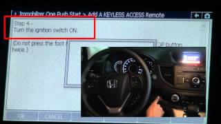 G-scan Adding Keyless Access Remote to a 2012 Honda CR-V