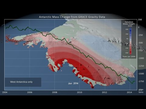 Antarctic Ice Mass Loss: Jan. 2004 - June 2014