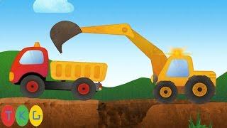 Phim hoạt hình Xe Xúc Đất, Xe Ủi Đất | Tony The Truck | TKG
