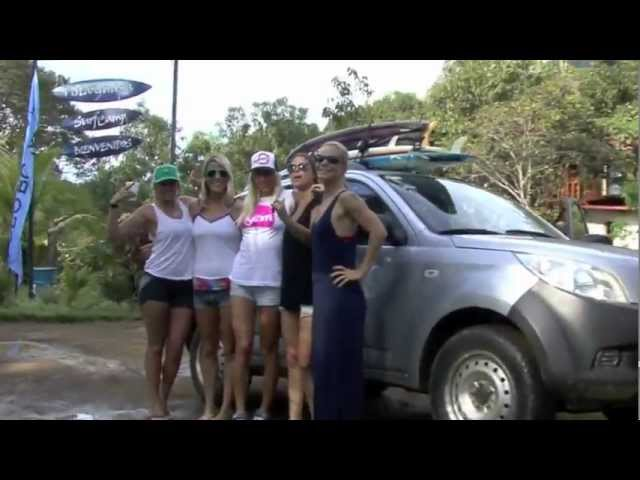Costa Rica Girls Only Surfing Bikini Road Trip