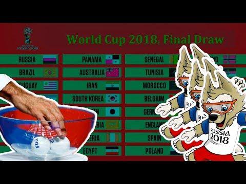 Жеребьевка Чемпионата Мира 2018. Результаты. Футбол
