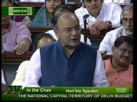 Finance Minister Shri Arun Jaitley introduces the Budget 2014-15 for NCT of Delhi