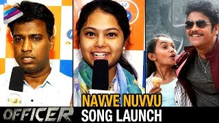 Navve Nuvvu Song Launch | Officer Telugu Movie Songs | Nagarjuna | RGV | Myra Sareen | Ramya Behara