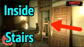 Look Inside Hideout Staircase in Red Dead Redemption 2 (RDR2): Secret Painting bug # 1823502