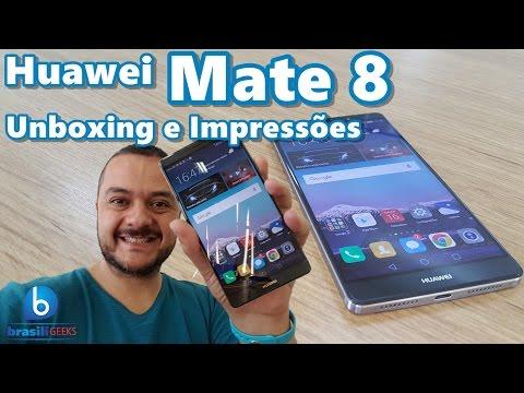 Huawei Mate 8 – Tela de 6 Polegadas e Bateria de 2 Dias! Unboxing e Impressões (Em Português)