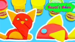 Building Play-Doh Animals!   Learning Shapes   Educational Videos for Toddlers