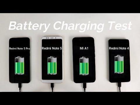 Redmi Note 5 Pro Vs Redmi Note 5 Vs Mi A1 Vs Note 4 Battery Charging Test I Hindi