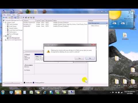 Como crear o eliminar particiones de tu disco duro, Windows Vista y 7