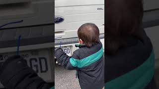 2 years old baby with car brands
