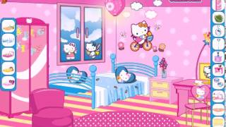 Hello Kitty fan decoration Online video game - baby girl games