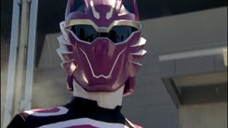 Power Rangers Jungle Fury - Purple Wolf Ranger's First Morph & Fight