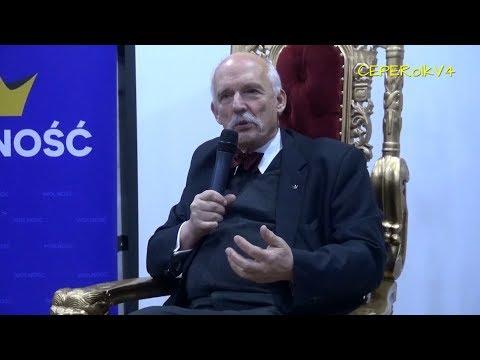 Janusz Korwin-Mikke W Częstochowie 02.03.2018