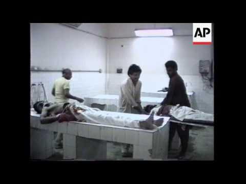 PAKISTAN: KARACHI: FUNERALS OF DEAD STUDENTS.