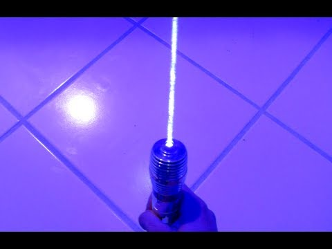 Homemade Lightsaber!?! MASSIVE 3W Handheld Laser Torching Stuff!!