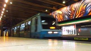 Metro de Santiago   Trenes Alstom en Parque Bustamante (L5) / NS74 - NS93