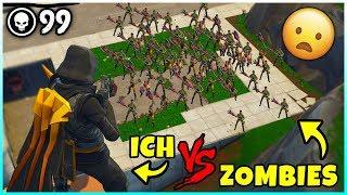 💀 Wir 4 gegen 45 Zombies in Fortnite! | Zombie Modus (Custom Games)