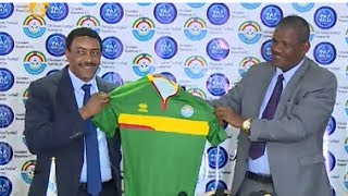 Abraham Mebratu  receives the Ethiopian national team as a trainer