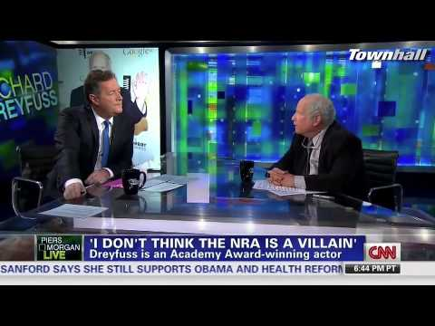 Actor Richard Dreyfuss Opposes Gun Control Advocate Piers Morgan: NRA Not