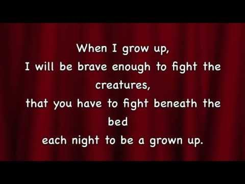 Matilda - When I Grow Up with lyrics