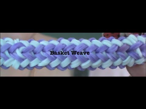 Rainbow Loom: Basket Weave ONE LOOM!