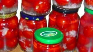 Помидоры  в пряном томатном соусе