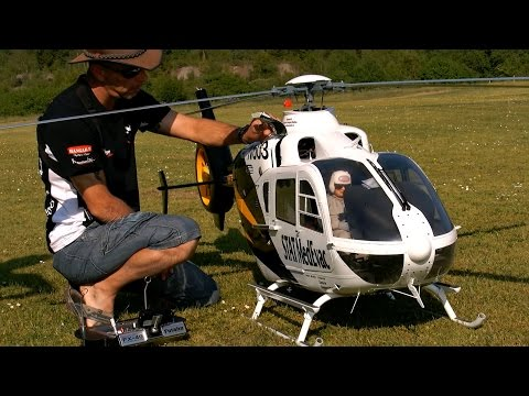 EC-135 GIGANTIC SCALE RC ELECTRIC MODEL HELICOPTER / Pöting Turbine Meeting 2015 *1080p50fpsHD*