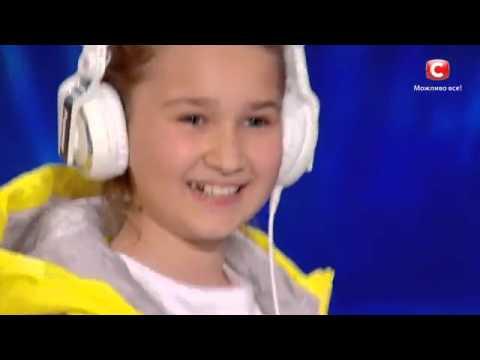 Полина Трояновская - DJ   песни dzidzioУкраїна має талант-8.Діти [19.03.2016]