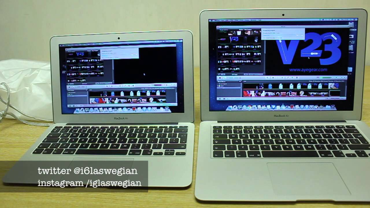 "Macbook Air 11"" VS Macbook Air 13"" Haswell - Speed Test ..."