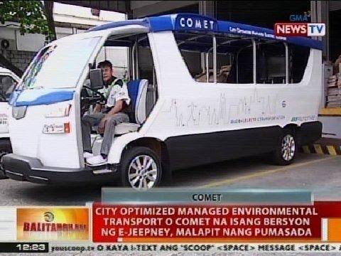 BT: COMET, isa bersyon ng e-jeepney na malapit nang pumasada