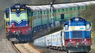 Single Line Crossing Trains   ALCOs   Garibrath Express   Indian Railways