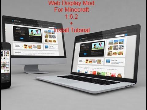 Web Display Mod Spotlight For Minecraft 1.6.2 + How to install tutorial!