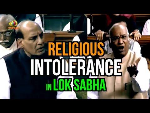 Rajnath Singh Vs Mallikarjuna Kharge On Religious Intolerance In Lok Sabha | Secularism