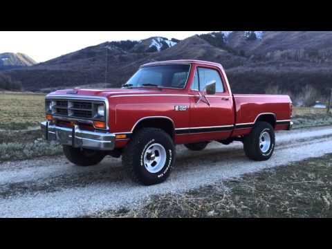 1984 Dodge W150 Power Ram Short Bed 4WD- One Owner, Spotless!!