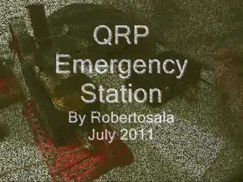 QRP CW Steam engine Emergency Station by YS1RS